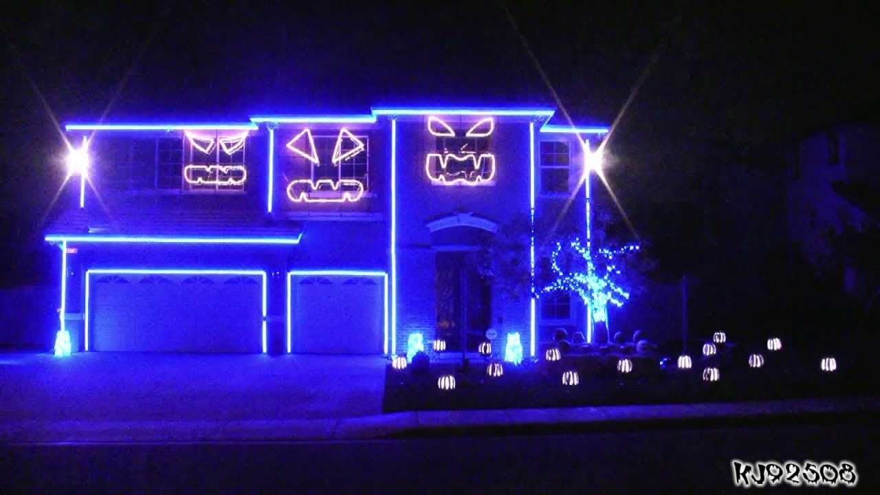 Halloween Light Show 2011   Party Rock Anthem   YouTube