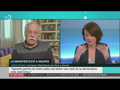 Jaime Pastor: 'Va ser un èxit, hi ha una majoria per una sortida dialogada'