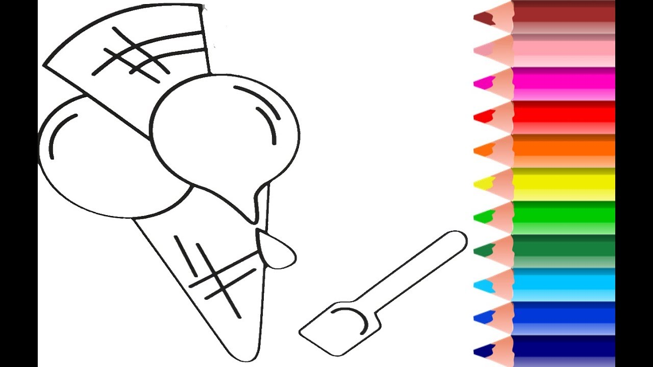 Coloring And Painting For Kids I Candy Ice Cream I Yummy Youtube