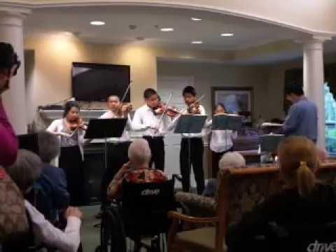 Ambler Youth Chamber Orchestra 2018 Spring, Haydn String Quartet, No. 11, G minor, 1st movment