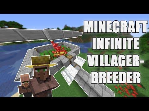 EASY Minecraft INFINITE VILLAGER Breeder 1.15