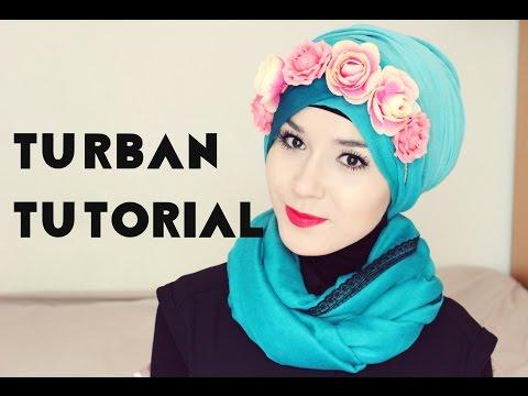 Turban Tutorial l Flower Crown @NABIILABEE