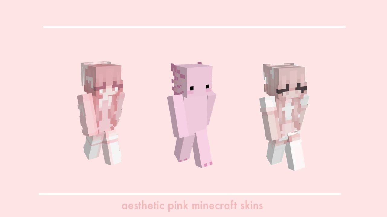 aesthetic pink minecraft skins // pink core 🌸🥧+ download links ...