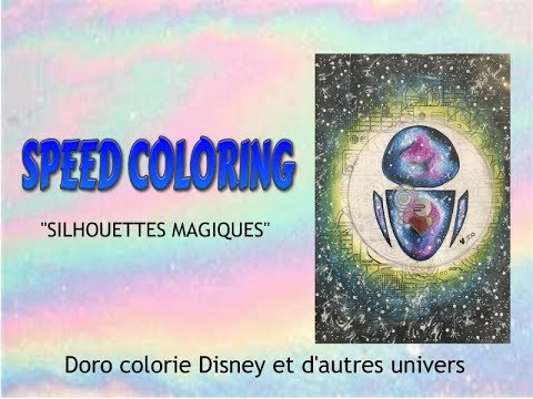 Coloriage Adulte Tuto.Speed Coloring Coloriage Adulte Silhouettes Magiques Luchshie
