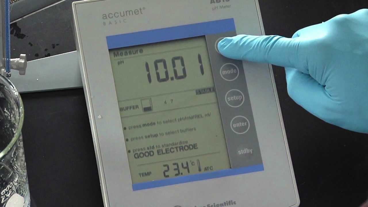 ph meter calibration youtube rh youtube com accumet basic ab15 plus ph meter manual Fisher Scientific Ph Meter Manual