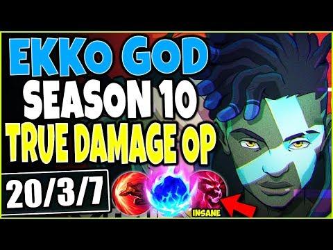 GOD EKKO SEASON 10 BUILD 🔥 20 SEC R & OP TRUE DAMAGE EKKO SKIN 🔥 TOP LoL Ekko Guide s10 Gameplay
