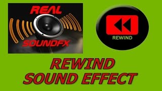 Rewind tape sound effect - cassette realsoundFX