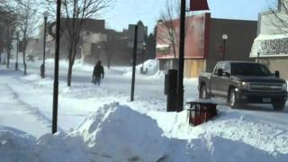 Crookston, MN Blizzard New Years Day Jan 1, 2011