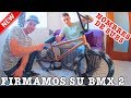 QUITAMOS EL ÓXIDO DE ESTA BMX - Firmamos el nombre de suscriptores en la bici de mi hermano!!