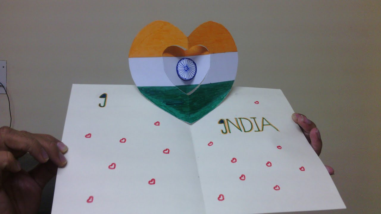 How to make national flag of india pop up cards independence day how to make national flag of india pop up cards independence day cards handmade youtube m4hsunfo