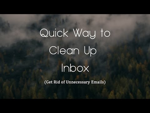 How to delete unnecessary Emails from Inbox