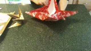 How To Make A 4-point Origami Christmas Star - Reusable!