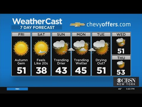 New York Weather: 11/15 Friday Afternoon Forecast