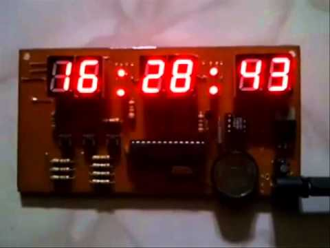 Digital Clock with Seven Segment Display - YouTube