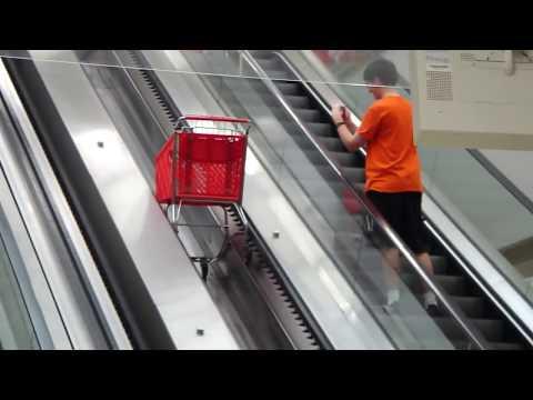 Schindler elevator and shopping cart escalators at The Atlanta Target
