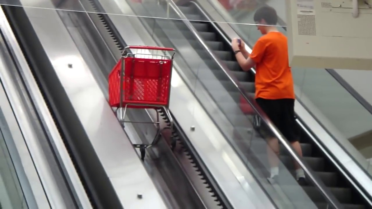 Schindler elevator and shopping cart escalators at The