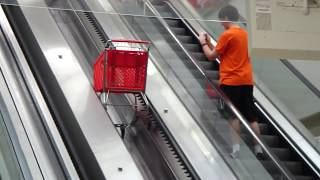 Schindler Elevator And Shopping Cart Escalators At The Atlanta Target