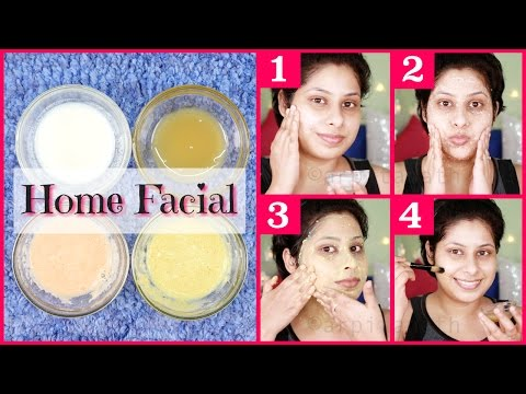 Skin Whitening Milk Facial At Home || Get Lighter & Glossy Skin