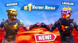 Using Lachlan's *UNRELEASED* Fortnite Skin! We won the new Floor Is Lava LTM!