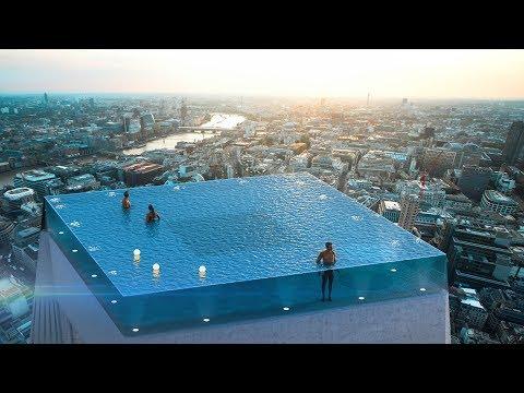 Бассейн на крыше небоскреба в Лондоне манит туристов со всего мира