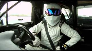 Stig in a taxi