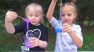Сборник видео Май Литл Настя и Слаймы / Настя и Арина делают ЛИЗУНЫ / Видео для детей