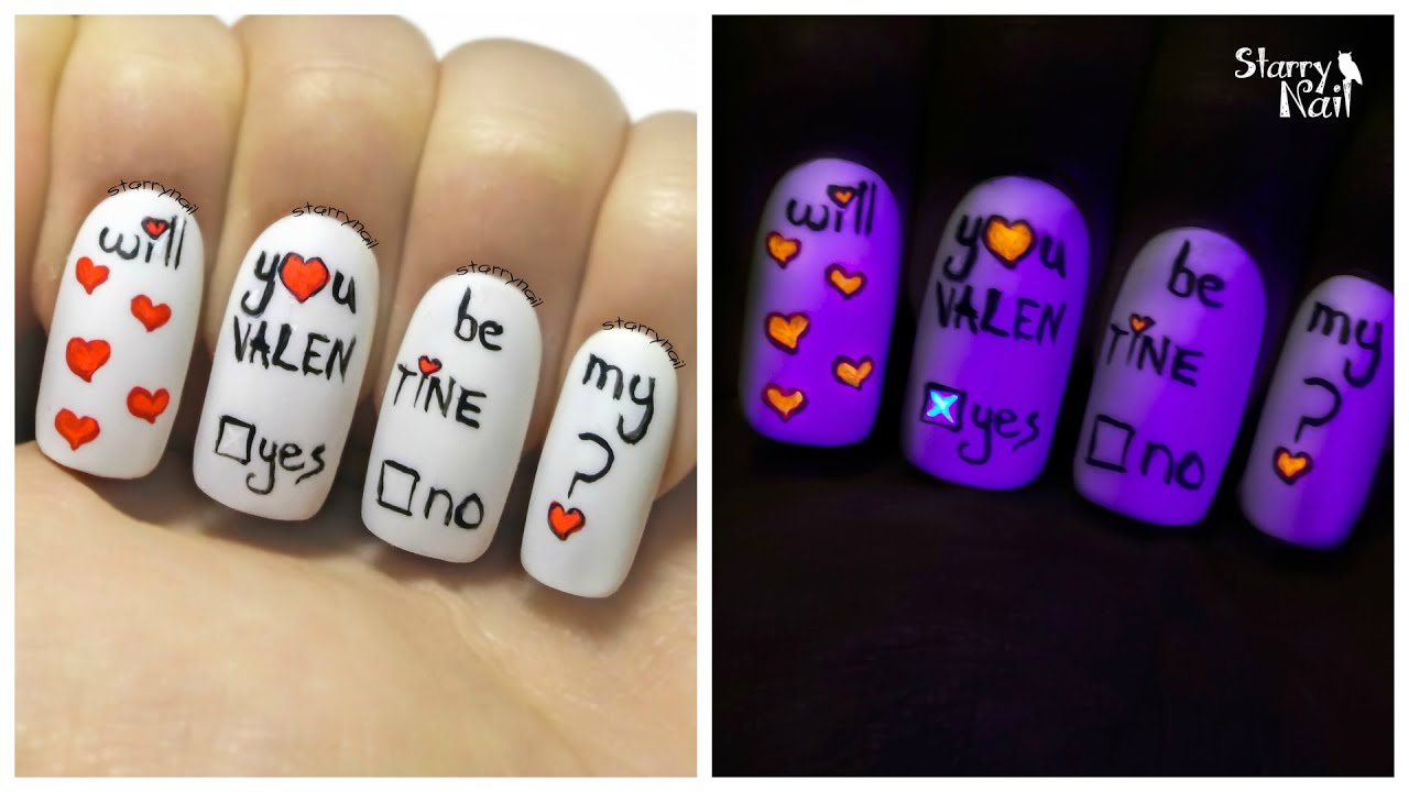 Valentine\'s Day Note & Invisible Answer ⎮ Glow in the Dark Freehand ...