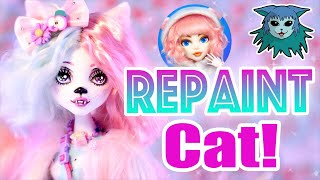 Doll Repaint: Cat! Cat collab with Dollightful