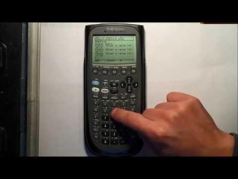 Programming The Quadratic Equation Into Ti