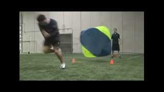 NFL Speed Training  Connor Barwin Parachute Sprint