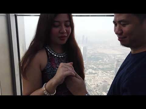 Sweetest Proposal at the top of Burj Khalifa Dubai United Arab Emirates uly 31 ,2021