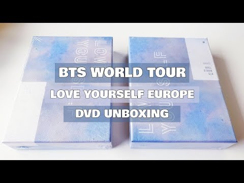 [UNBOXING] BTS (방탄소년단) WORLD TOUR LOVE YOURSELF EUROPE DVD