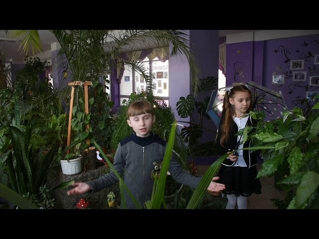 """Изображение предпросмотра прочтения – «МОУ """"Шахтёрская гимназия""""» читают произведение «Крупный дождь в лесу зелёном» И.А.Бунина"""