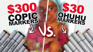 WHAT'S THE DIFFERENCE?! | Cheap Vs. Expensive Markers | Side-by-Side Demo | Ohuhu v. Copic