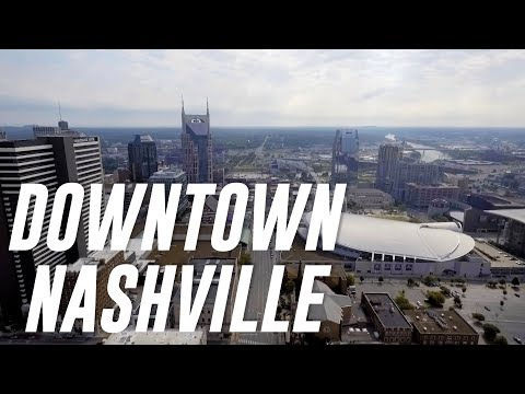 Broadway in June - Downtown Nashville Drone Footage