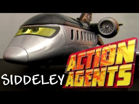 Siddley spy jet Getaway Launcher playset Action Agents Siddeley Disney Pixar Sidley Blucollection
