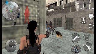► Secret Agent Lara Croft Front Line Commando (DGStudios) With Police Dog - Android Gameplay