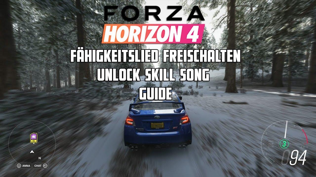 Forza Horizon 4 - Fähigkeitslied freischalten/Unlock Skill Song - Guide