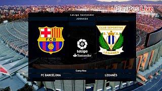 Pes 2020 - barcelona vs leganes full match & messi goals gameplay pc