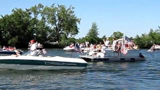 4th of July Boat Parade, Lake Carlos, Alexandria, Minnesota