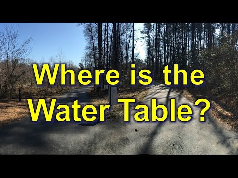 Where is the Water Table?