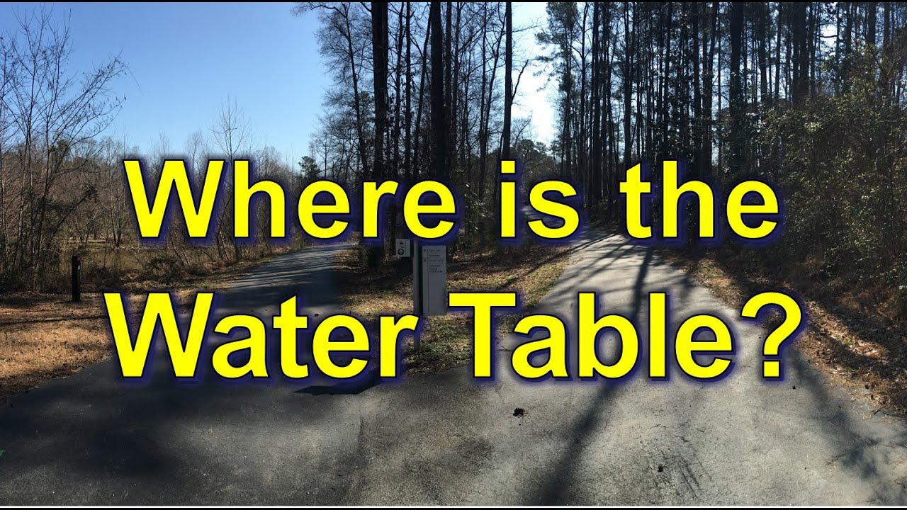 hight resolution of where is the water table