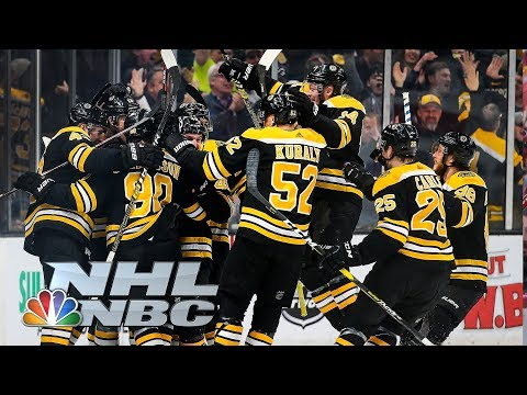 NHL Stanley Cup Playoffs 2019: Blue Jackets vs. Bruins | Game 1 Highlights | NBC Sports