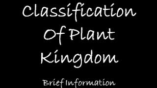Classification of Plant kingdom
