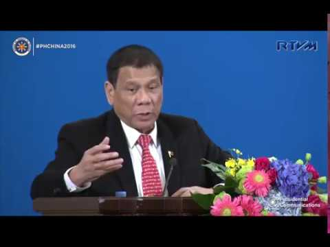 President Duterte's speech Philippine  China Trade and Investment Forum
