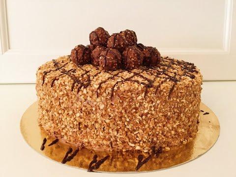 Rocher Torte mit Nutella und Haselnüssen - Rochertorte / Nutellatorte