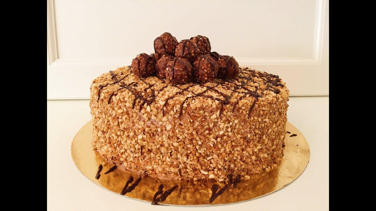 Rocher Torte Mit Nutella Und Haselnussen Rochertorte