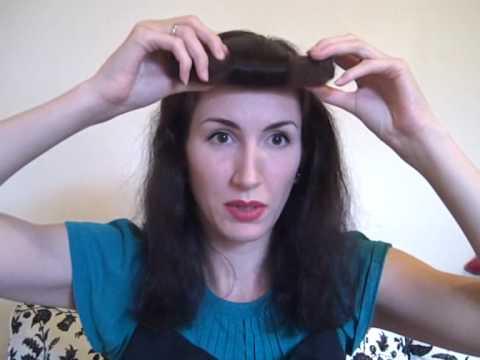 1940s faux bangs