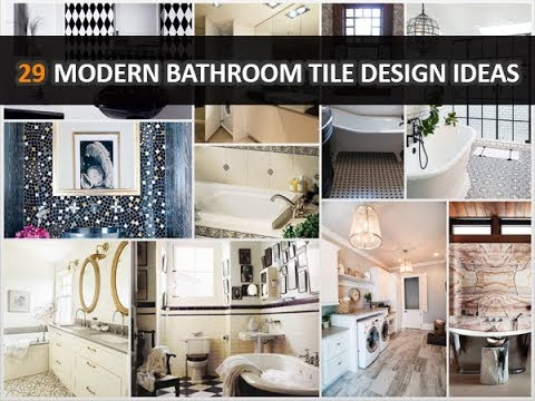 29 Modern Bathroom Tile Design Ideas - DecoNatic