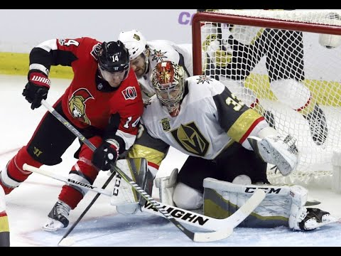 Lagace makes 24 saves for first NHL win, Vegas tops Sens 5-4